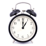1: 00 High Detail Traditional Alarm Clock Royalty Free Stock Photography