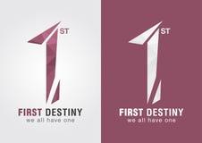 1-ая первая судьба символ значка от алфавита 1 письма Стоковое Изображение RF