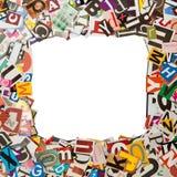 1:1 del marco del periódico imágenes de archivo libres de regalías