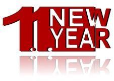 1.1. new year Stock Image