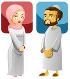 1个夫妇穆斯林 库存照片