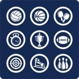 1 11个图标分开集合体育运动 图库摄影