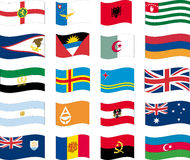 (1) 12 flaga listowy część set Zdjęcia Stock