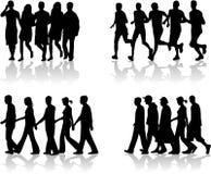 1 работа людей гуляя Стоковые Фотографии RF