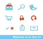 1 вебсайт части иконы установленный стильный Стоковая Фотография
