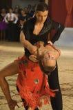 1 14 15场比赛开放舞蹈的拉丁 库存图片