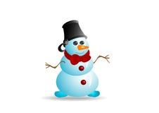 1个雪人 免版税库存照片
