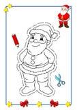 1书圣诞节着色 免版税库存图片