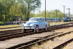 1 16th 2009 lokomotiv ståtar ångatrolleyen Arkivfoto