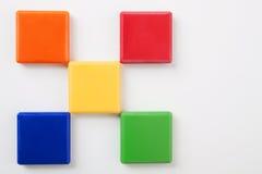 1个背景明亮的五颜六色的正方形 库存照片