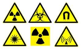 знаки 1 опасности установленные Стоковые Изображения RF