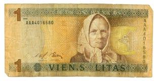 (1) 1994 banknotu litas Obraz Royalty Free