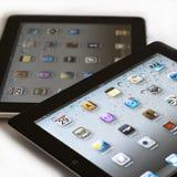 1 2个苹果ipad与 免版税库存照片