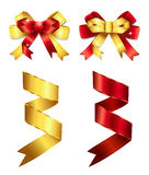 1 2条弓丝带 免版税库存图片