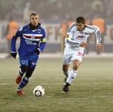 1 2 το sampdoria εναντίον Στοκ Εικόνες