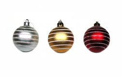 1 2 3个球圣诞节 免版税库存图片