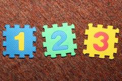 1 2 3个编号 库存照片