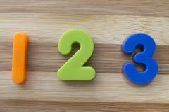 1 2 3在磁铁上写字 免版税库存图片