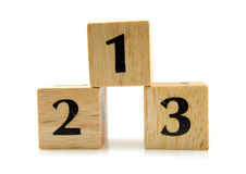 (1) 2 3 bloków liczby drewnianej Zdjęcie Stock