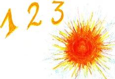 1.2.3, le soleil ! Images libres de droits