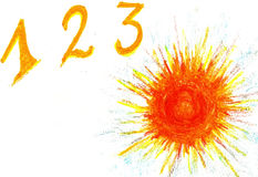 1,2,3, sun! Royalty Free Stock Images