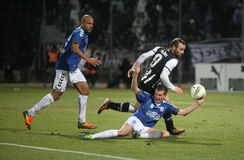 (1) 2 atromitos futbolowego dopasowania paok Fotografia Stock
