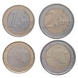 1,2 euro royalty free stock image