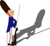1个战士玩具 免版税库存图片