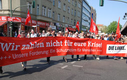 1 2009年柏林日演示可以 免版税库存照片