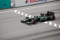 1 2010 лотосов формулы участвуя в гонке sepang Стоковое Изображение