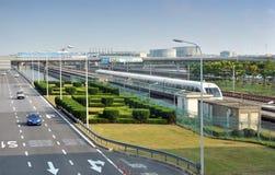 (1) 2010 Czerwiec maglev operaci początek pociąg zdjęcia royalty free