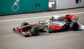 (1) 2010 formuł Hamilton Lewis mclaren sepang Obrazy Royalty Free