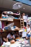 1 2011年洪・ 7月kong行军 库存图片