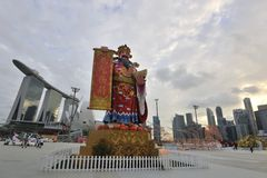 (1) 2011 Feb hongbao rzeka Singapore Obraz Royalty Free