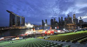 1 2011 feb hongbaoflod singapore Arkivfoton