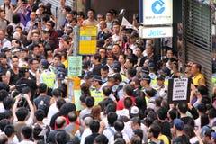 1 2012年洪・ 7月kong行军 图库摄影