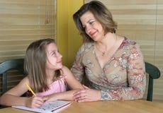 1帮助的家庭作业 库存照片