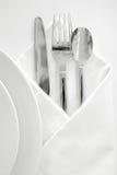 1个餐位餐具 免版税库存图片
