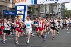 马拉松开始1 免版税库存照片