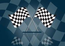участвовать в гонке Формула-1 флага Стоковое фото RF