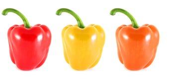 1 3个桔子胡椒红色黄色 免版税库存图片