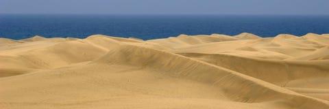 1 3个沙丘全景沙子 免版税库存图片