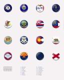 соединенного положения 1 3 положения штемпеля флага шарика Стоковые Фотографии RF