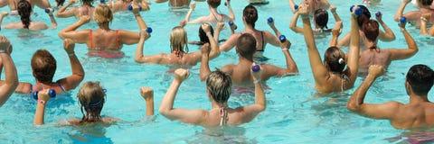 1 3 aerobika wody Fotografia Royalty Free