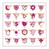 1 3 färgade set version för symbol Arkivbilder