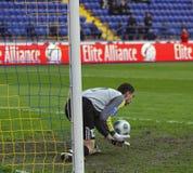 1 3 fc ilyichevets符合metalist足球与 免版税库存照片