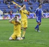 1 3 fc ilyichevets符合metalist足球与 免版税图库摄影