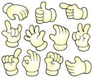 Συλλογή 1 θέματος χεριών κινούμενων σχεδίων Στοκ εικόνα με δικαίωμα ελεύθερης χρήσης