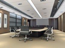 1间3d会议室 库存照片
