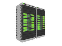 1 3d绿色服务器 库存例证